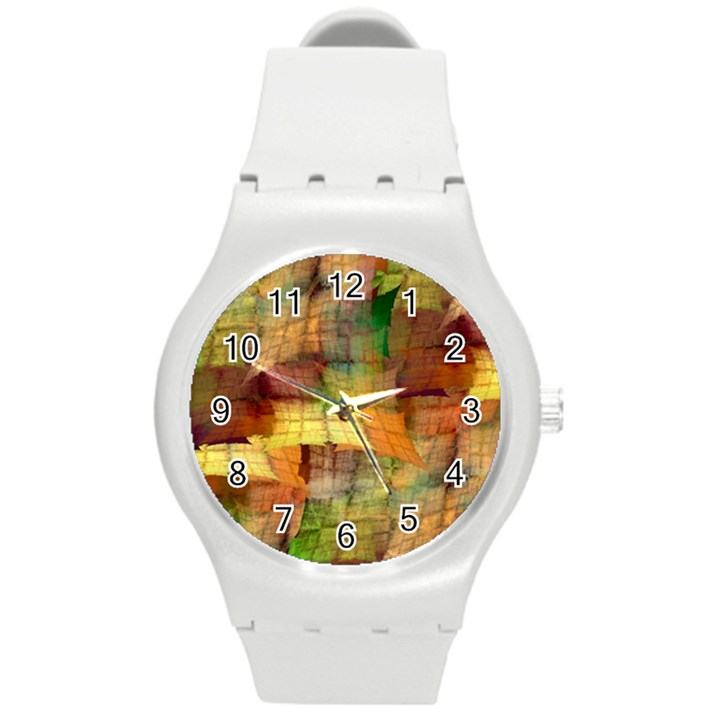 Indian Summer Funny Check Round Plastic Sport Watch (M)