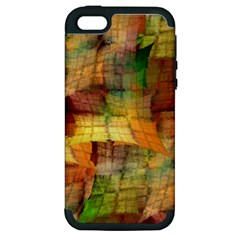 Indian Summer Funny Check Apple iPhone 5 Hardshell Case (PC+Silicone)