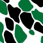 Green Black Digital Pattern Art #1 DAD 3D Greeting Card (8x4) Inside