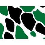 Green Black Digital Pattern Art Ribbon 3D Greeting Card (7x5) Front