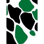 Green Black Digital Pattern Art Ribbon 3D Greeting Card (7x5) Inside