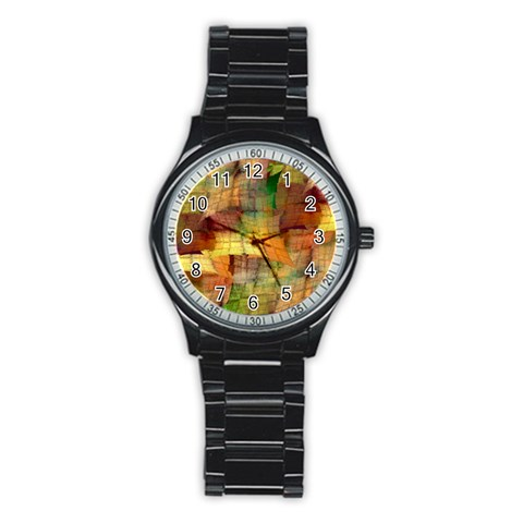 Indian Summer Funny Check Stainless Steel Round Watch