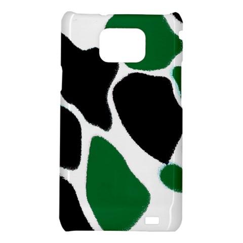 Green Black Digital Pattern Art Samsung Galaxy S2 i9100 Hardshell Case