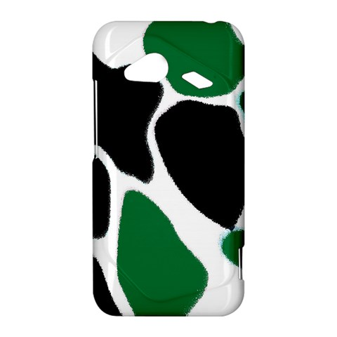 Green Black Digital Pattern Art HTC Droid Incredible 4G LTE Hardshell Case