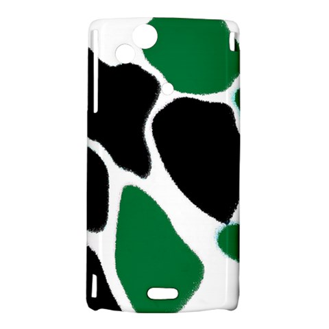 Green Black Digital Pattern Art Sony Xperia Arc