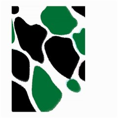 Green Black Digital Pattern Art Small Garden Flag (Two Sides)