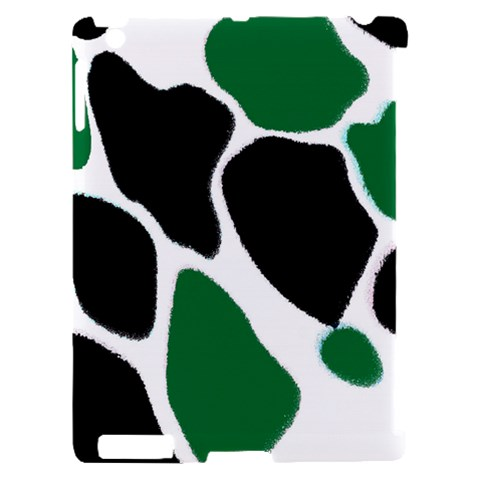 Green Black Digital Pattern Art Apple iPad 2 Hardshell Case (Compatible with Smart Cover)