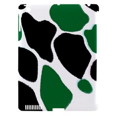 Green Black Digital Pattern Art Apple iPad 3/4 Hardshell Case (Compatible with Smart Cover)