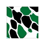 Green Black Digital Pattern Art Acrylic Tangram Puzzle (4  x 4 ) Front