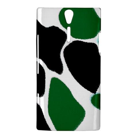Green Black Digital Pattern Art Sony Xperia S