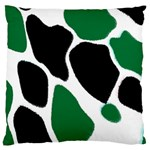 Green Black Digital Pattern Art Large Cushion Case (Two Sides) Front