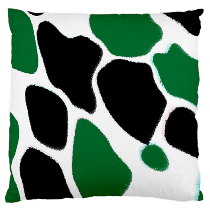 Green Black Digital Pattern Art Large Cushion Case (Two Sides)