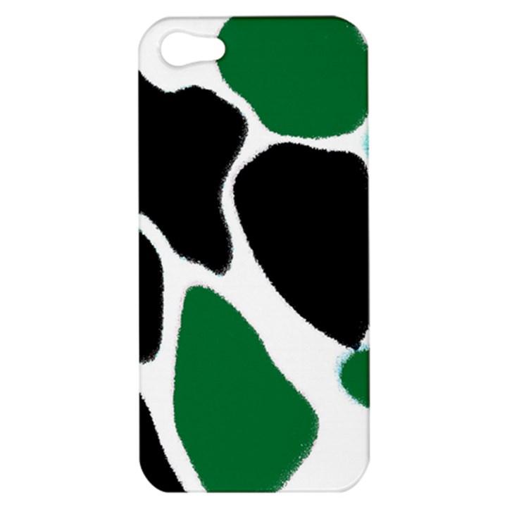 Green Black Digital Pattern Art Apple iPhone 5 Hardshell Case