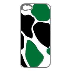 Green Black Digital Pattern Art Apple iPhone 5 Case (Silver)