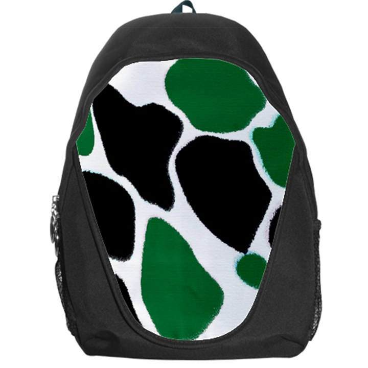 Green Black Digital Pattern Art Backpack Bag