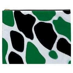 Green Black Digital Pattern Art Cosmetic Bag (XXXL)