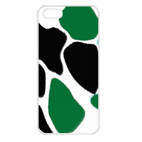 Green Black Digital Pattern Art Apple iPhone 5 Seamless Case (White)