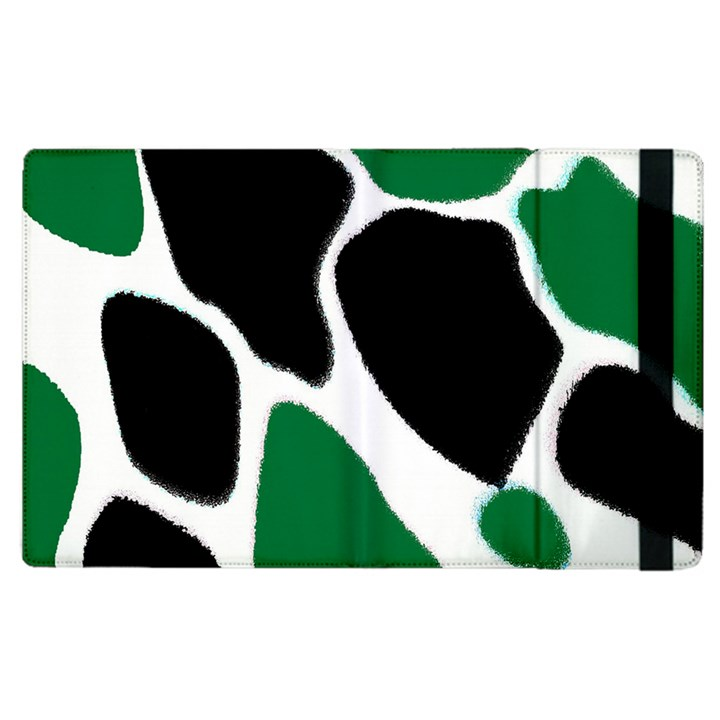 Green Black Digital Pattern Art Apple iPad 3/4 Flip Case