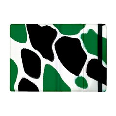 Green Black Digital Pattern Art Apple iPad Mini Flip Case