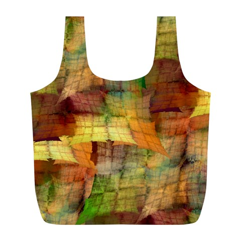 Indian Summer Funny Check Full Print Recycle Bags (L)