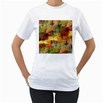 Indian Summer Funny Check Women s T-Shirt (White)  Front