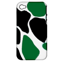 Green Black Digital Pattern Art Apple iPhone 4/4S Hardshell Case (PC+Silicone)