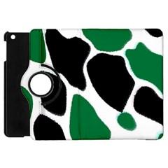 Green Black Digital Pattern Art Apple iPad Mini Flip 360 Case