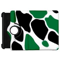 Green Black Digital Pattern Art Kindle Fire HD Flip 360 Case