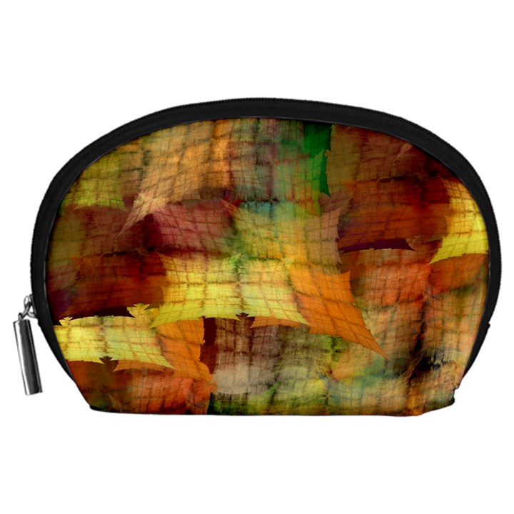 Indian Summer Funny Check Accessory Pouches (Large)