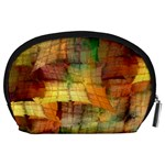 Indian Summer Funny Check Accessory Pouches (Large)  Back
