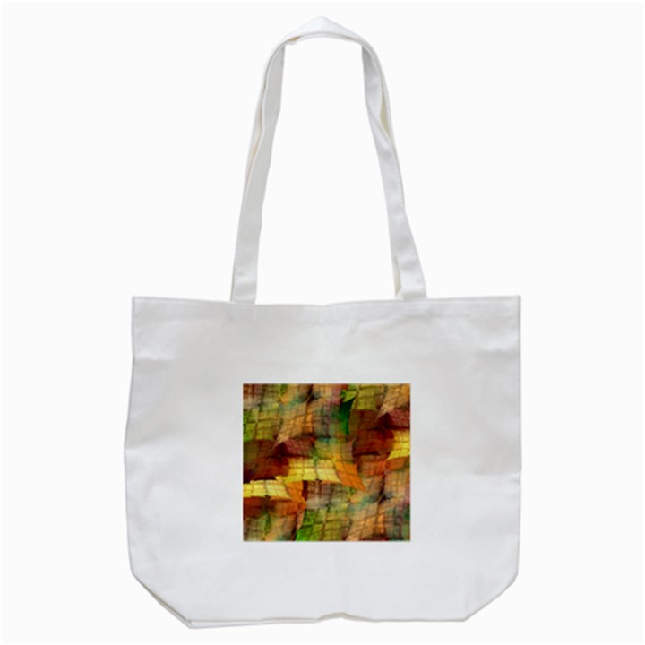 Indian Summer Funny Check Tote Bag (White)