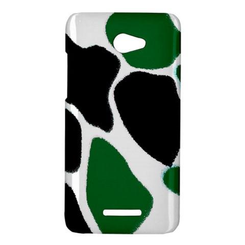 Green Black Digital Pattern Art HTC Butterfly X920E Hardshell Case