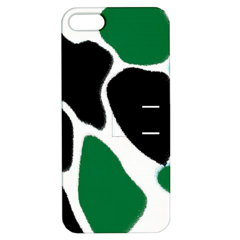 Green Black Digital Pattern Art Apple iPhone 5 Hardshell Case with Stand