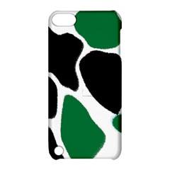 Green Black Digital Pattern Art Apple iPod Touch 5 Hardshell Case with Stand