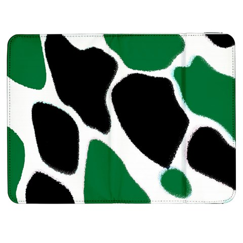 Green Black Digital Pattern Art Samsung Galaxy Tab 7  P1000 Flip Case