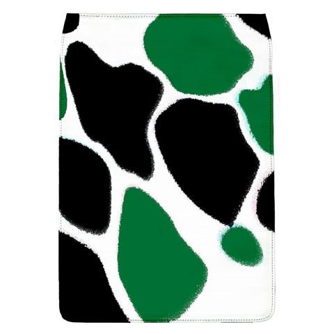 Green Black Digital Pattern Art Flap Covers (L)