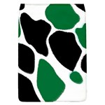Green Black Digital Pattern Art Flap Covers (L)  Front