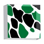 Green Black Digital Pattern Art 5  x 5  Acrylic Photo Blocks Front