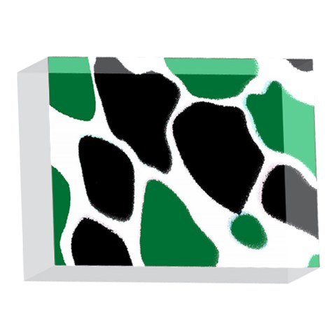Green Black Digital Pattern Art 5 x 7  Acrylic Photo Blocks