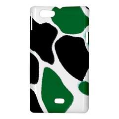 Green Black Digital Pattern Art Sony Xperia Miro