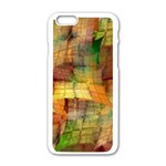 Indian Summer Funny Check Apple iPhone 6/6S White Enamel Case Front