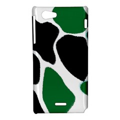 Green Black Digital Pattern Art Sony Xperia J