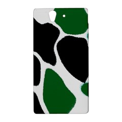 Green Black Digital Pattern Art Sony Xperia Z