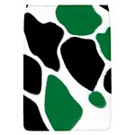 Green Black Digital Pattern Art Flap Covers (S)  Front
