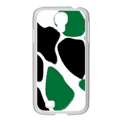 Green Black Digital Pattern Art Samsung GALAXY S4 I9500/ I9505 Case (White)