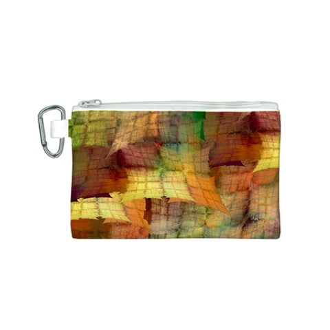 Indian Summer Funny Check Canvas Cosmetic Bag (S)