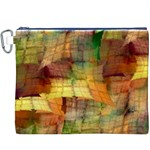 Indian Summer Funny Check Canvas Cosmetic Bag (XXXL) Front
