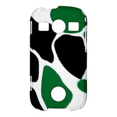 Green Black Digital Pattern Art Samsung Galaxy S7710 Xcover 2 Hardshell Case