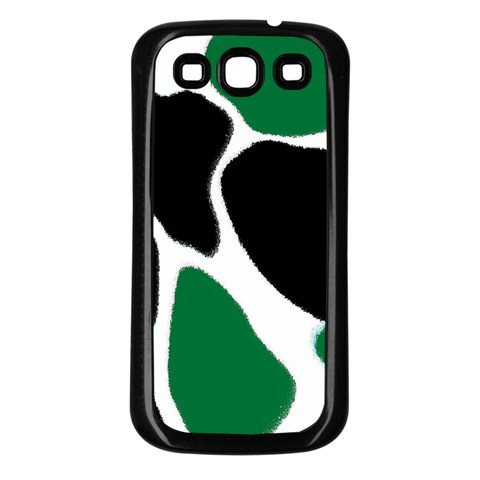 Green Black Digital Pattern Art Samsung Galaxy S3 Back Case (Black)