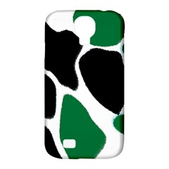 Green Black Digital Pattern Art Samsung Galaxy S4 Classic Hardshell Case (PC+Silicone)